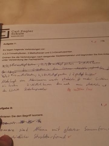 Aufgabe 7 - (Chemie, organisch)
