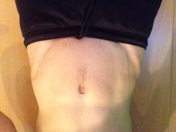 Kein anspannen - (Bauchmuskeln, V Muskel, Hilfe zum V-Muskel)