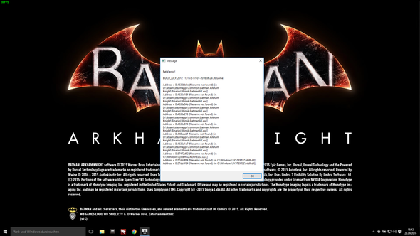 Fehlermeldung - (PC, Grafikkarte, PC-Spiele)