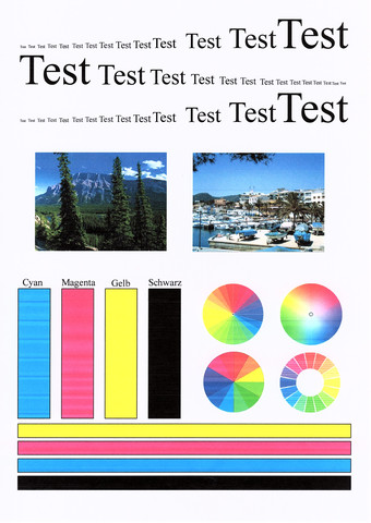 Fein Probe Drucker Testseite Farbe Zeitgenössisch ...