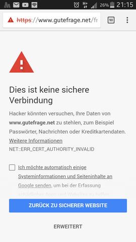 Wieso erkennt Chrome 67 für Android plötzlich ein Zertifikat nicht ...