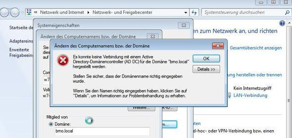 Fehlermeldung - (Computer, Informatik, Domain)