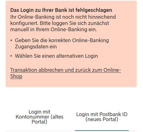 SofortГјberweisung Postbank