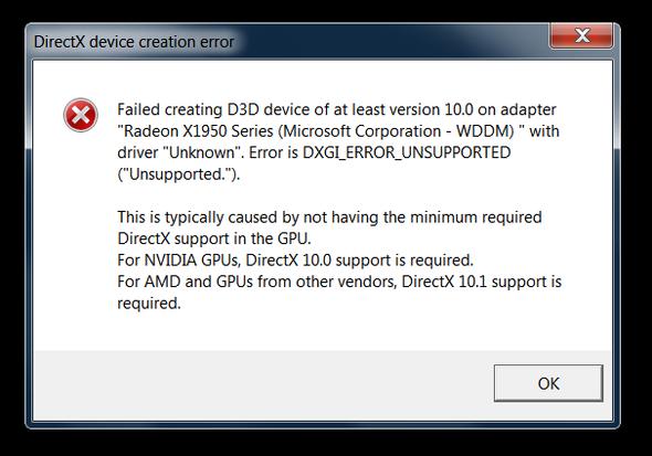 Error :( - (Windows 7, Battlefield-3, directx)