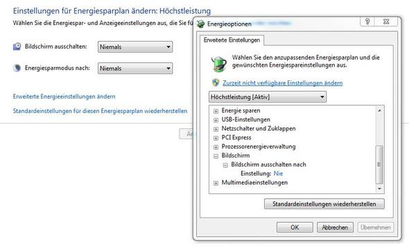 Die Energiespareinstellungen - (Computer, Windows 7, Monitor)
