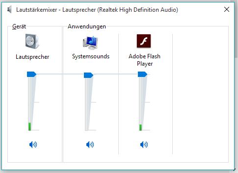 Der Lautstärkemixer - (Youtube, Sound, Windows 10)