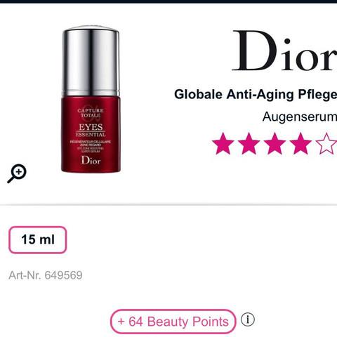 Kennt jemand die Inhaltsstoffe? - (Dior, Augenpflege, Anti aging Pflege)