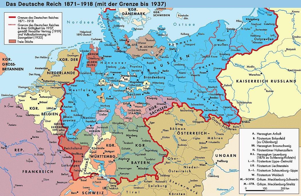 Alte Deutschlandkarte