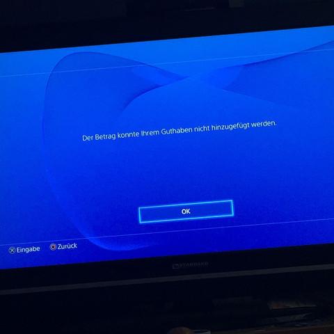 Diese Fehlermeldung kommt - (PayPal, Kreditkarte, Playstation 4)