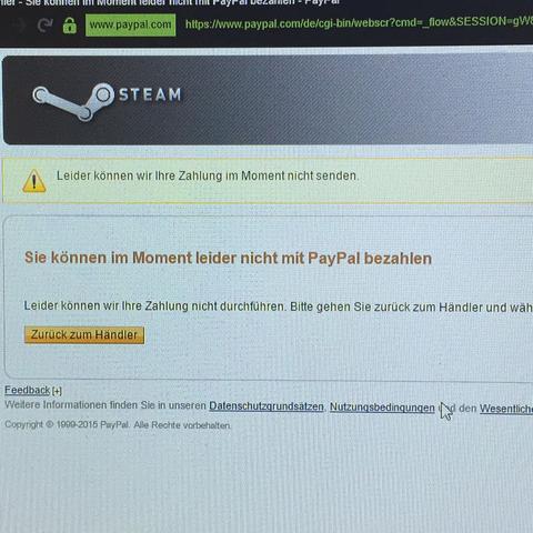 wieso kann ich mit paypal nicht bezahlen