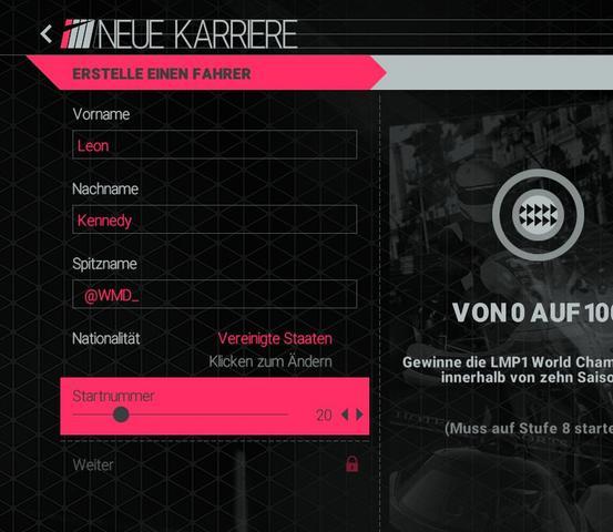 Wieso kann ich den Karrieremodus bei der Project Cars (Steamversion) nicht spielen?