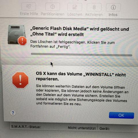 Nicht formatierbar - (USB-Stick, formatieren)