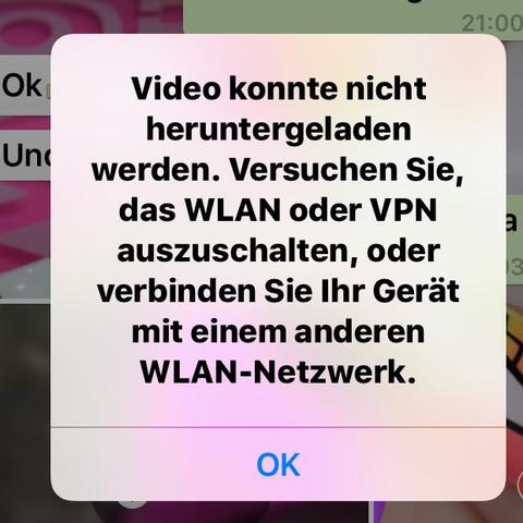 Meldung - (WhatsApp, Funktioniert nicht, Videos anschauen)