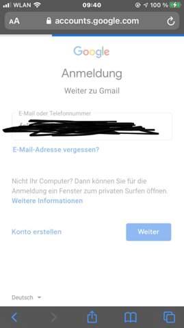 Wieso kann ich mich nicht bei Google anmelden?