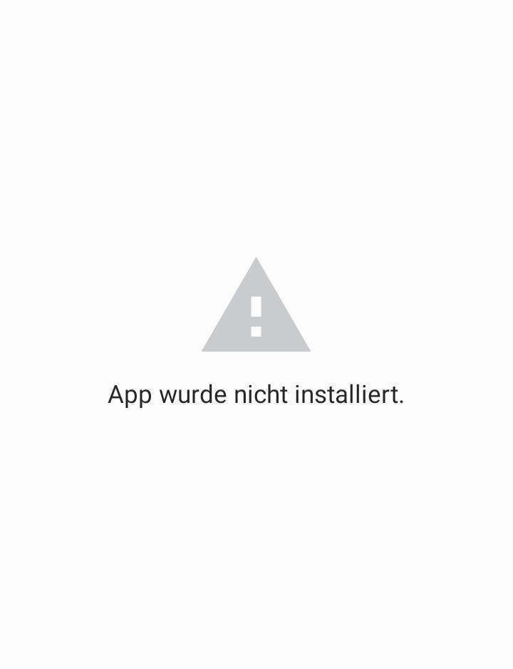 App wurde nicht installiert apk