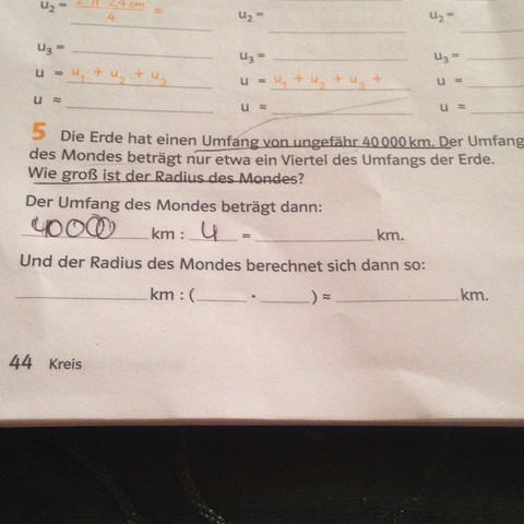 Aufgabe 5 - (Mathematik, kreisumfang)