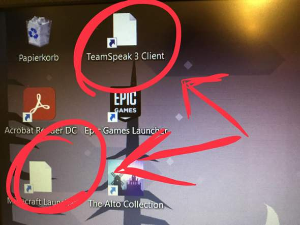 Wieso laden die Programm-icons nicht?