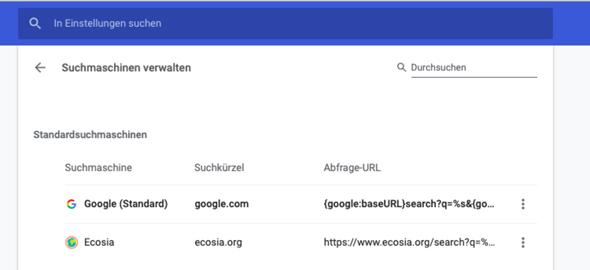Wieso öffnet Chrome immer bing als Suchmaschine?