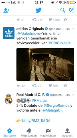 Adidas auf twitter - (adidas, türkisch)