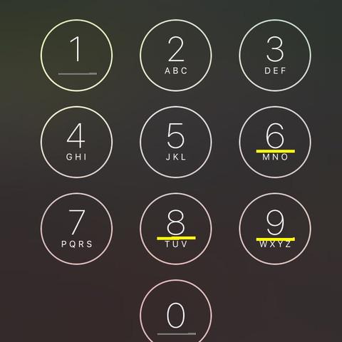 Hier sind 5 Zahlen unterstrichen - (iPhone, ios, Code)