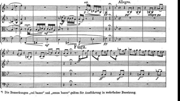 Wieso sind in Beethovens großer Fuge gebundene Achtel?