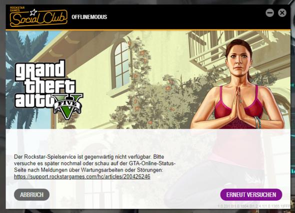 Wieso startet GTA 5 nur im offline modus?