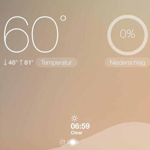 60°C 😅 - (App, ios, Frischluft)