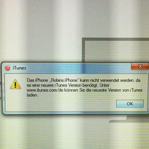 die Fehlermeldung... - (Handy, iPhone, Apple)