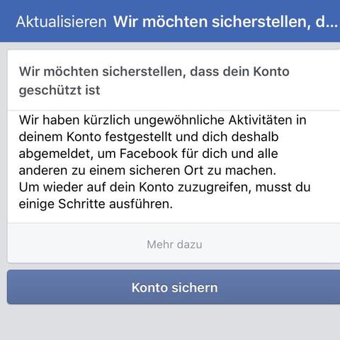 Wieso werde ich immer von Facebook gesperrt?