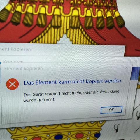 Das ist die Fehler Meldung  - (Computer, iPhone, Bilder)