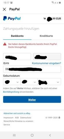 Paypal Zahlungsquelle HinzufГјgen Obwohl Vorhanden