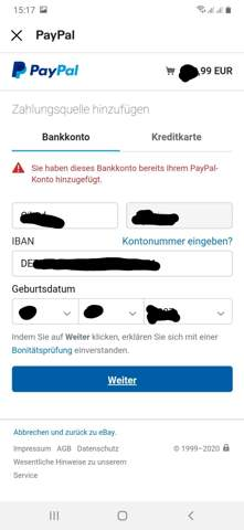 Paypal Zahlungsquelle Hinzufügen Obwohl Vorhanden