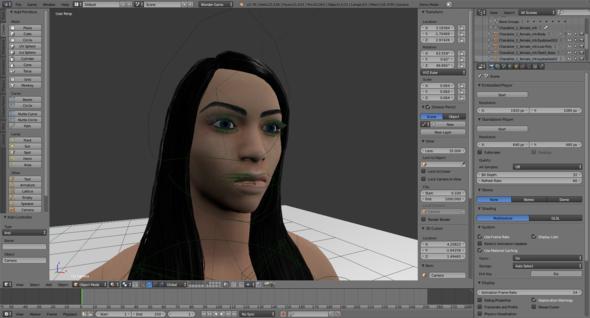 Material Ansicht - (Computer, blender-game-engine, makehuman)