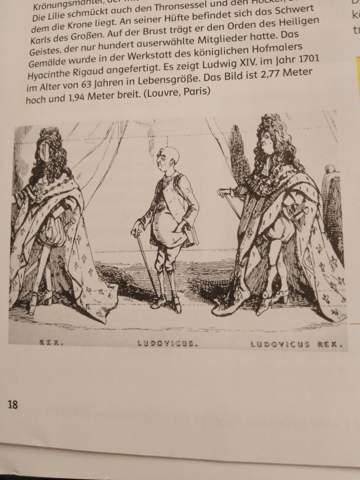 Wieso wird Ludwig XIV. Auf dieser Karikatur so dargestellt?