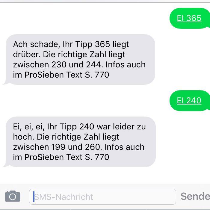 Gewinnspiel prosieben sms