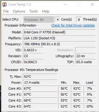 Hier ein Bild vom Programm, welches die Temperatur misst - (Computer, PC, Hardware)