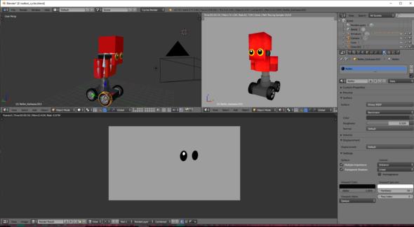 Bild vom ungerenderten roboter - (Animation, Blender)