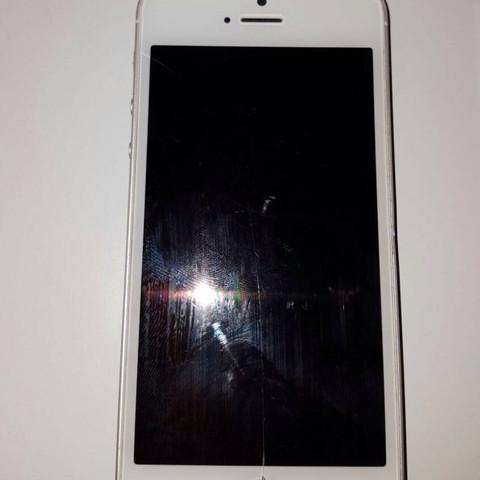 Vorderseite mit riss  - (gebraucht, iphone 5)