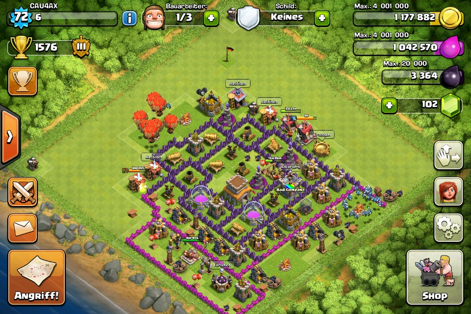 wieviel ist mein clash of clans account wert games. Black Bedroom Furniture Sets. Home Design Ideas