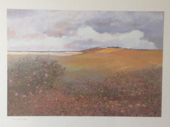 """Bild """"Wilde Malven"""" von Alphonse Lanoe 1926-2008 - (Wert, Rahmen, kunstdruck)"""