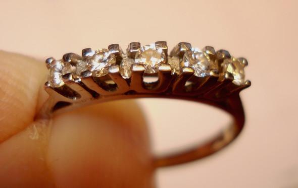 Ring mit 5 Brillianten - (Schmuck, Karat, brillianten)