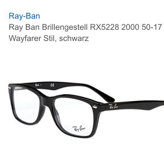 ray ban sehbrille preise
