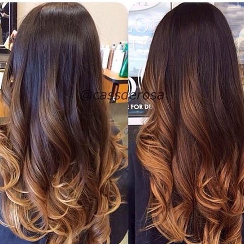 Lange haare braun ombre