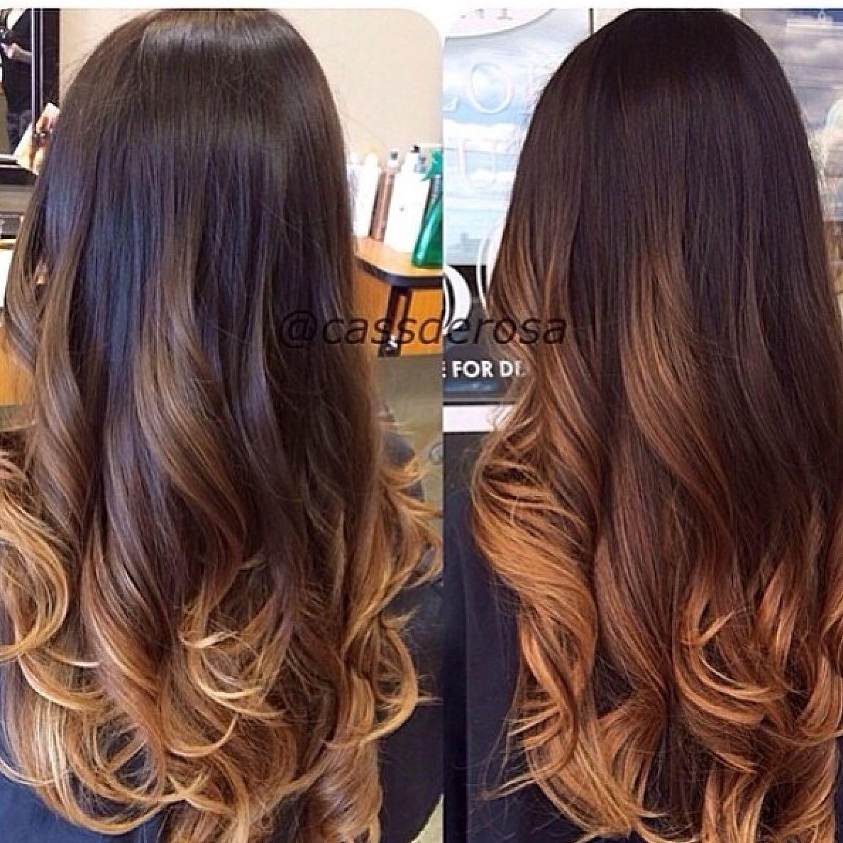 Mittellange Haare Ombre Glatt Helle Haarfarbe 2019