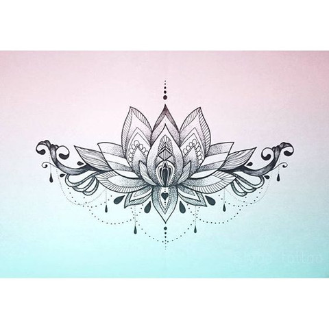 wieviel w rde dieses lotus tattoo kosten sternum. Black Bedroom Furniture Sets. Home Design Ideas