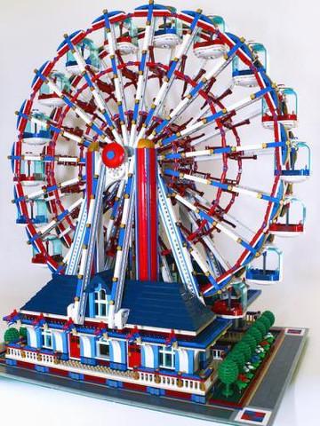 Lego Ferris Wheel (RedCoKid) - (Lego, sammlerstueck)