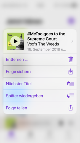 - (iPhone, Apple Podcast Player)