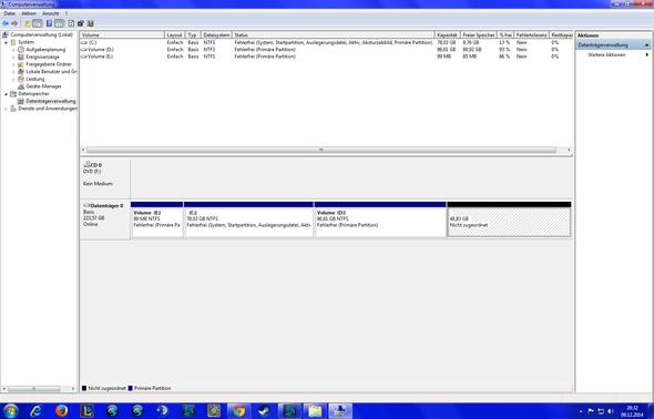 ::: - (Windows 7, Festplatte, Partition)