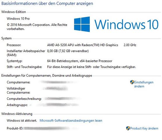 RAM 8GB - (Windows, Arbeitsspeicher, Win 10)