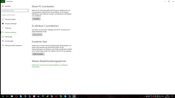 Einstellungen - (Windows 7, Windows 10, Downgrade)